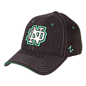7d461c6cd09d80 ZHATS University of Notre Dame Fighting Irish ND Black Top Headlight Fitted  Adult Mens Hat/Cap Size Medium/Large