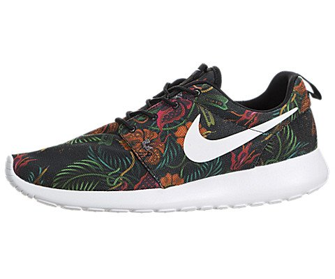 Nike Rosherun Print Jungle Flower Floral Total Orange White Black US 13