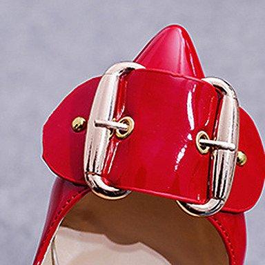 Stöckelabsatz Komfort LvYuan 5 Komfort High Schwarz Weiß 7 Leuchtende Leuchtende cm Sohlen Heels Kleid Rosa ggx Damen Schnalle Rot white PU Sohlen Sommer HrIwvq6rx
