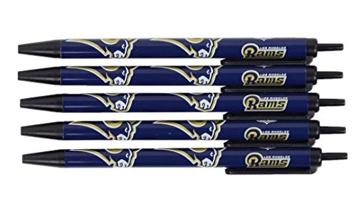 (NFL St. Louis Rams Disposable Black Ink Click Pens, 5-Pack)