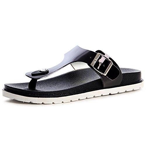 topschuhe24 1218 Plateau Pantoletten Wedges Sandalen Zehentrenner Blogger Style