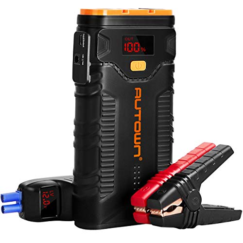 Jump Starter, AUTOWN 2000A Peak 20800mAh Car Jump Starter with Quick Charger, 12V Auto Battery Booster Portable Power Pack with LED Light,LCD Screen and Type-C Cable (Best Power Pack Jump Starter)
