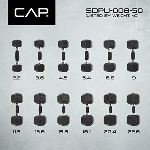 CAP Barbell mancuerna Revestido de PVC, Individual 10