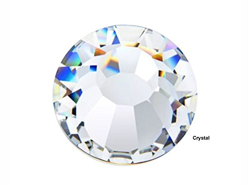 Rose Ss20 Crystal - Preciosa Genuine Czech Crystals, 144pcs in size ss20 (5 mm), Crystal, Viva Chaton Roses (Viva12 MC Rhinestone Flatbacks), clear, 20ss
