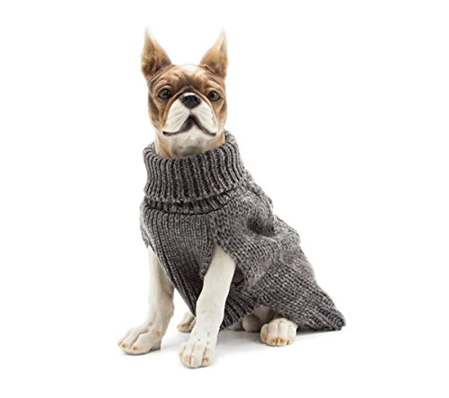 PetBoBo Fashion Pet Classic Twist Knit Dog Sweater, Puppy Kitten Autumn Winter Coat, Pet Clothes Grey S