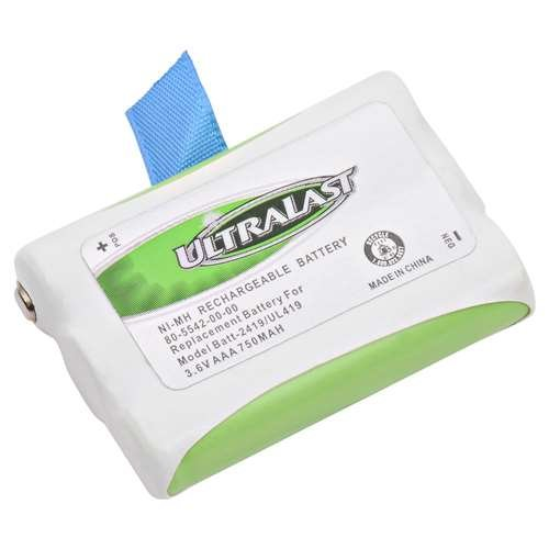 AT&T 2420 Cordless Phone Battery Replacement For Cordless Phone Battery 3 AAA - Replaces AT&T 2419, 2420, Vtech 80-5542-00, Olympia CDP models by Ultralast (Image #1)