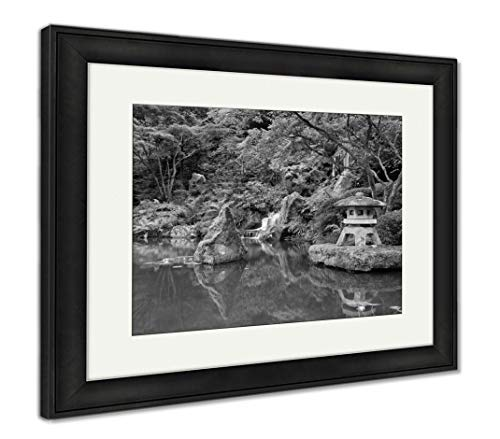 - Ashley Framed Prints Portland Japanese Garden, Wall Art Home Decoration, Black/White, 34x40 (Frame Size), Black Frame, AG6504103