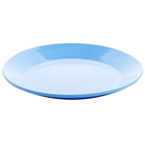 Demarkt 2X Platos Plástico Duro para Almacenamiento de Alimentos - Plato de Diámetro 13.4cm(