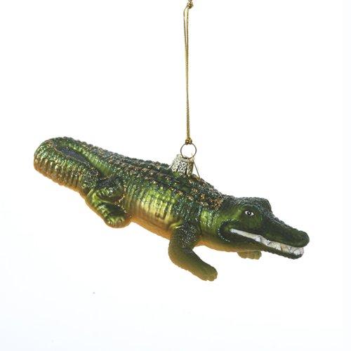 Noble Gems Kurt Adler 5-1/2-Inch Glass Alligator Ornament