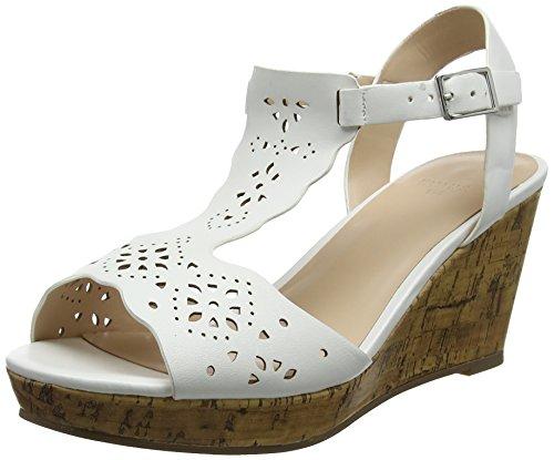 Evans Women's Harlowe Ankle Strap Heels White (White 03) 2wrAl