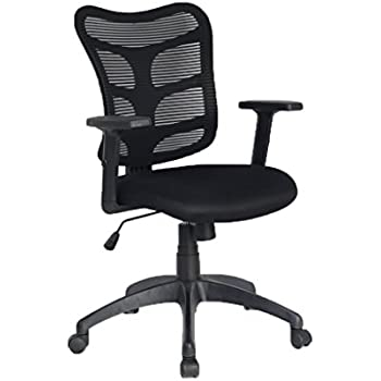 VIVA OFFICE Mid Back Mesh Computer Task Chair with Adjustable Armrests