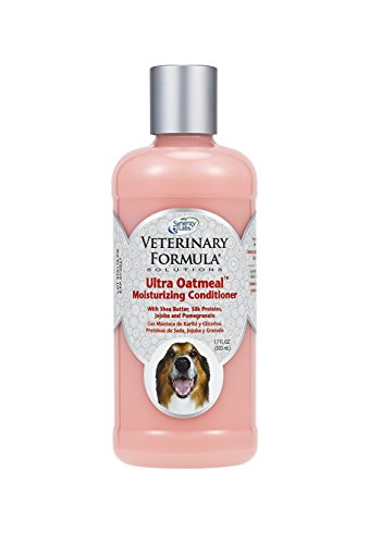 Veterinary Formula Solutions Ultra Oatmeal Moisturizing Conditioner for Dogs - With Colloidal Oatmeal and Jojoba - Leaves Coat Soft, Shiny, Hydrated, Strong- Long-Lasting Fragrance (17oz)