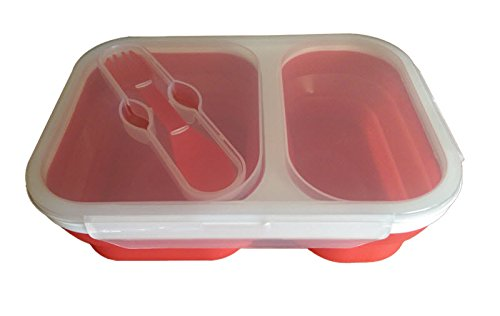 Large Collapsible Silicone Compartment Container