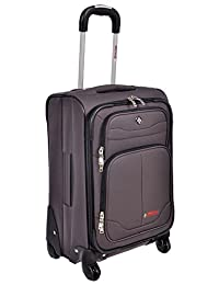 "Swiss Travel Products Charcoal 20"" Upright Rolling Suitcase"