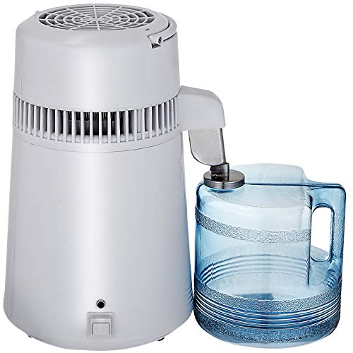 Mophorn Pure Water Distiller 750W, Purifier Filter Fully Upgraded with Handle 1.1 Gal/4L, BPA Free Container, Perfect for Home Use, 1.1 Gal/4L, White