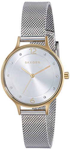 Women's Skagen 'Anita' Crystal Index Mesh Strap Watch, 30Mm