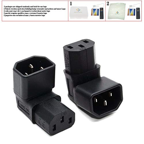 IEC Connectors IEC 320 C14 to C13 Up Angle Power Adapter Conversion Plug IEC320 C13 to C14 AC Plug Converter 3Pin Female to Male,Type 1