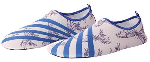 CAIHEE Frauen und Männer Leichtgewichtler Quick Dry Slip On Water Schuhe Aqua Barfuß Haut Schuhe Weiß