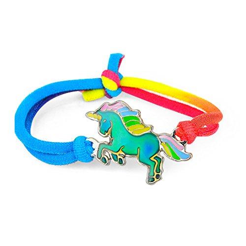 Fun Jewels 1PC Fairy Tale Cute Unicorn Charm Color Change Kids Mood Bracelet Gift For Girls