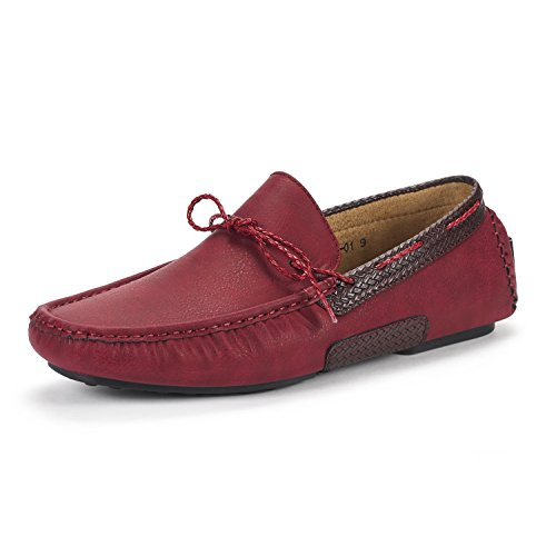 NEW Men's Shoes MARC BRUNO Burgundy Marc YORK Bruno Loafers Moccasins 01 Penny Santoni xZqpwAp5