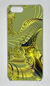 Iphone 5 5s PC Hard Shell Case Golden Web Transparent Skin by Sallylotus