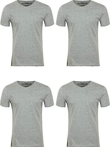 Riverso - Pack de 4 camisetas básicas para hombre RIVNico, cuello ...
