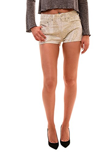 (Diesel Women's Authentic Minzy Calzoncino Short Ivory Print Size 28)