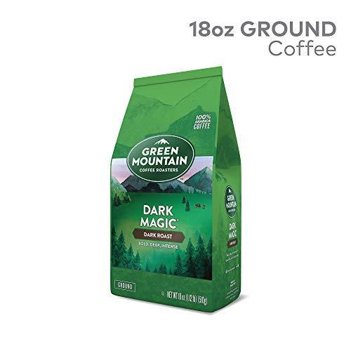 - Green Mountain Coffee Roasters Dark Magic Ground Coffee, Dark Roast, 18 oz