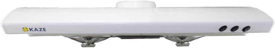 KAZE APPLIANCE Ultra Slim Profile Kitchen Range Hood (36 inch, White)