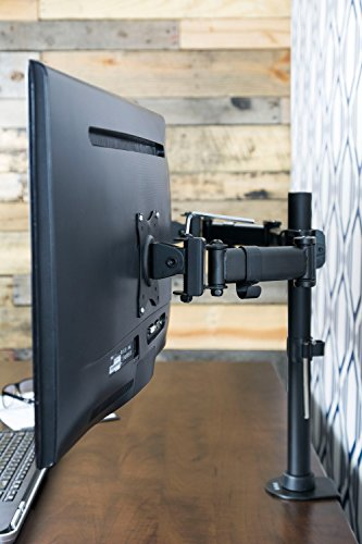Accordion Articulated Arm : Vivo dual monitor arms fully adjustable desk mount