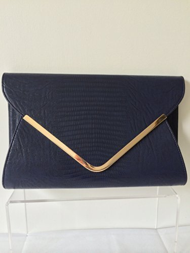 Navy Blue Envelope Clutch Bag, Evening Bag, Oversized, Ladies Navy ...