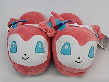 Fatflyshop - Pokemon Sylveon Cute Anime Cartoon Plush Indoor Bedroom Winter Slipper
