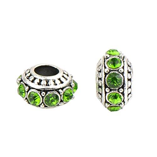 Bling Stars Jan-Dec Birthstone Charms Swarovski Elements Crystal Spacer Beads Fit Pandora Chamilia Bracelet ()