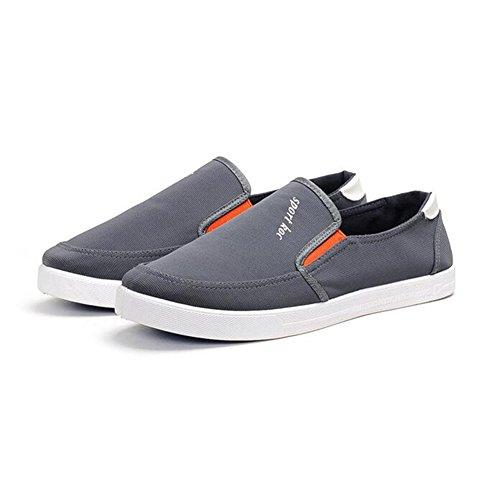 Para De De Moda On Cómodos Gray Sandalias Lona De Zapatos Lona Verano Slip Y Cómodos Hombre Casuales De gEwnqId