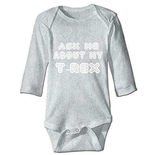 Grandkids Jumpsuit Soft Onesie Romper Comfy Bodysuit Ask Me About My T Rex Creeper]()