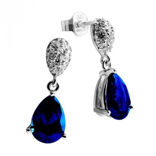 Femmes Boucles d'oreilles argent 6215451089 zircons Diamonfire