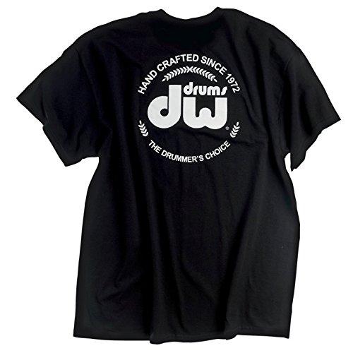 DW Drum Workshop Short Sleeve Tee, Heavy Cotton, Black with DW  Logo, M (Workshop Drum Shirt)