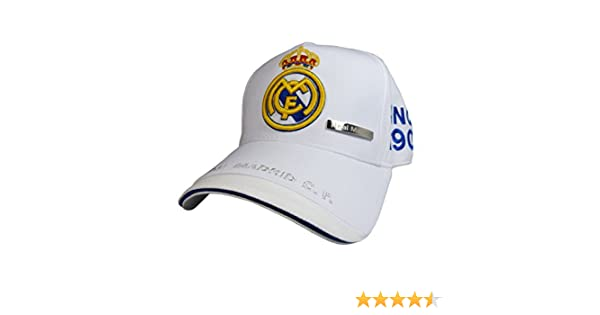 Real Madrid C.F. - Gorra Clã¡Sica Real Madrid Adulto Blanco ...