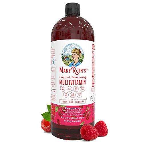 Liquid Multivitamin for Men & Women by MaryRuth's, Vegan Vitamin A, B, C, D3, E & Amino Acids, Sugar Free, 1 Month…