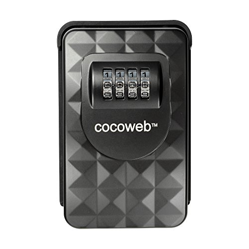 Cocoweb Key Vault - Heavy Duty Key Storage Lock Box - Wall Mounted