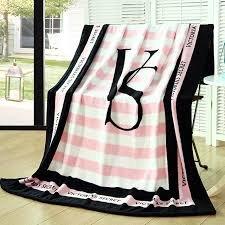Pink VS Secret Blanket Manta Fleece Blanket Throws on Sofa/Bed/Plane Travel Plaids