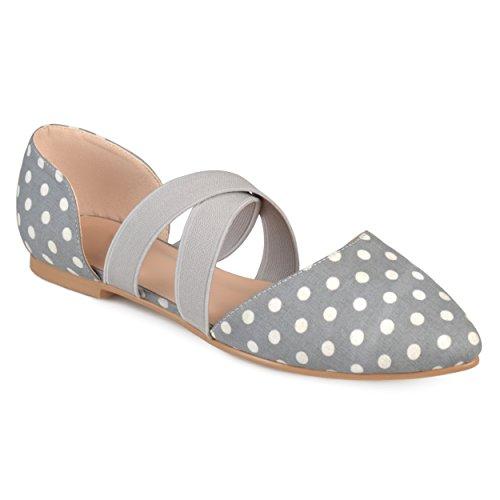 Journee Collection Womens Faux Leather Criss Cross Pointed Toe Flats Dot AX66SCq