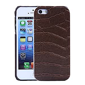 Fashionable Crocodile Pattern Leather Green Rainbow Series PU Leather Case for iPhone 5S ,Color: Red