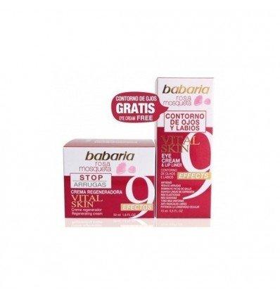 Babaria Vital Skin Rosa Mosqueta. Regenerating Face Cream 9 Effects 50 ml + Eye and Lips Cream 15ml