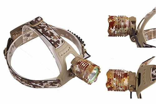(Great Popular 3 Mode LED 3000 Lumen Headlamp Pocket Torch Adjust Headband Bike Flashlight Color Camouflage)