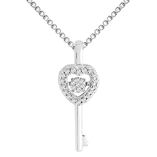Diamond Necklace in Sterling Silver 1/10 cttw