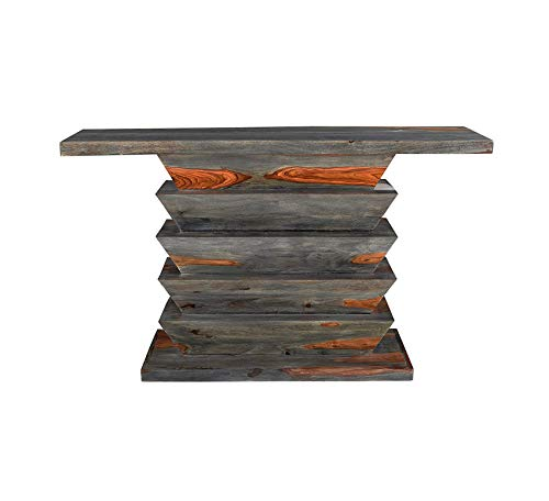 Wood & Style Furniture Console Table, Brown Home Office Commerial Heavy Duty Strong Décor