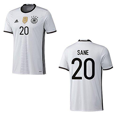 adidas DFB DEUTSCHLAND Trikot Home Herren EURO 2016 - SANE 20, Größe:M