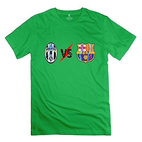Juventus FC VS FC Barcelona Logo Tee Size M]()
