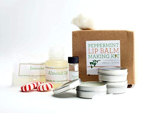 DIY Peppermint Lip Balm Making Kit - Learn how to make home